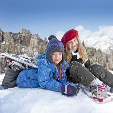 Snowshoeing am Fairmont Banff Springs in Banff; Alberta