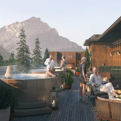 Die Rooftop Lounge des Mount Royal Hotel in Banff