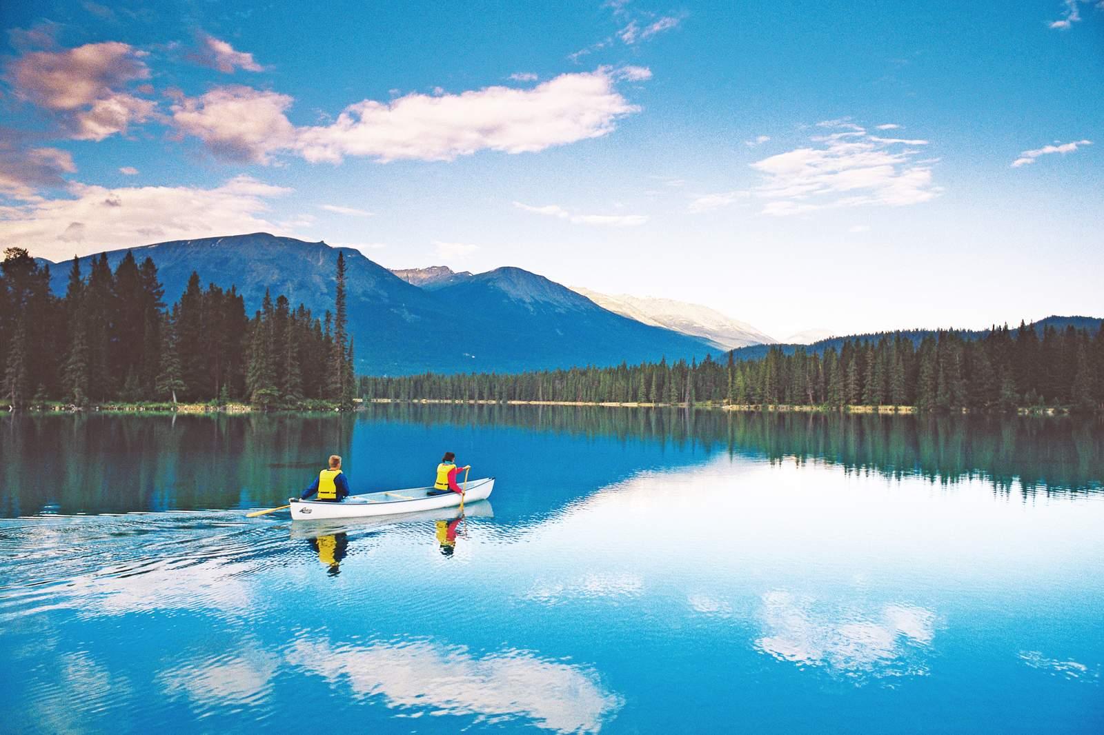 Kanu fahren auf dem Lac Beauvert