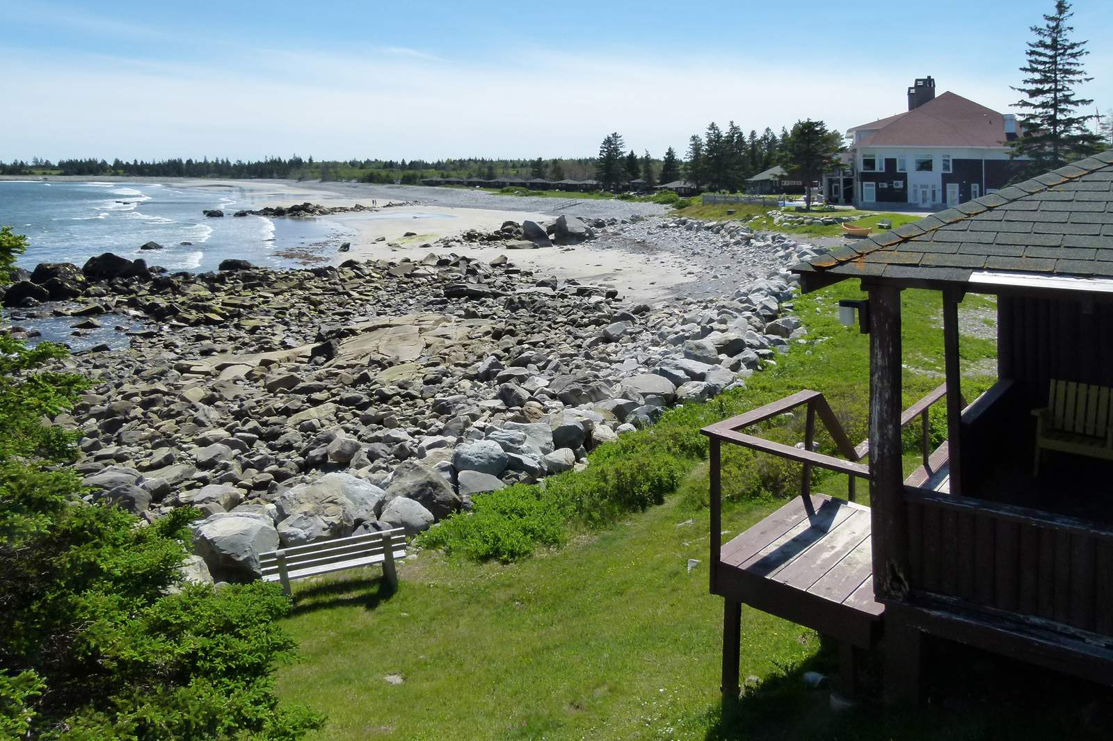 Ausblick von der Cottage