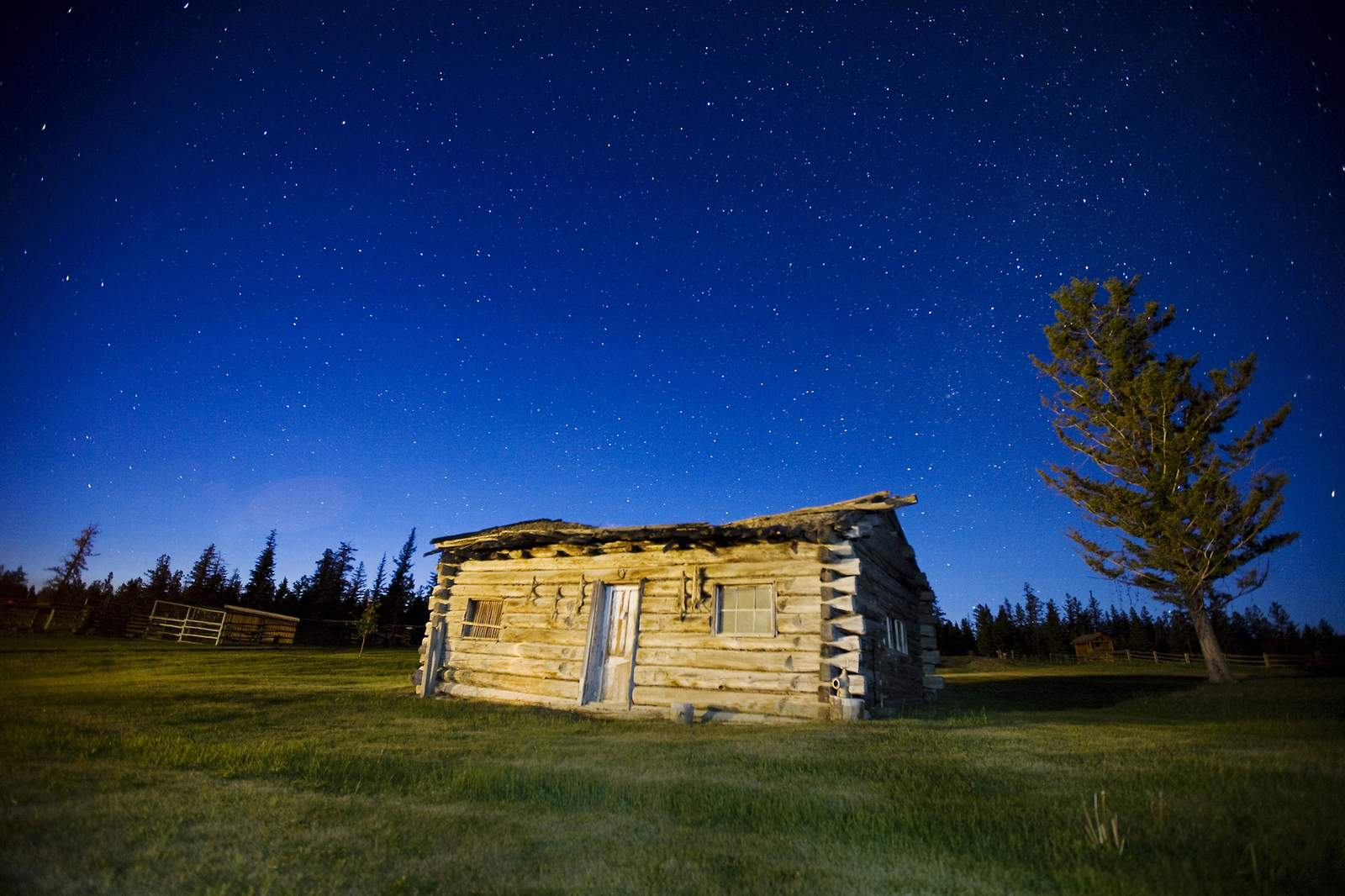 Sternenhimmel über der Ranch