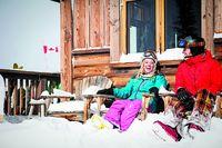 Ski fahren bis zur Haustür...