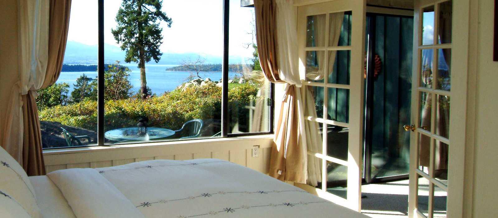 Quarrystone House Bed and Breakfast, Einzelbettzimmer mit Sicht auf die Bucht