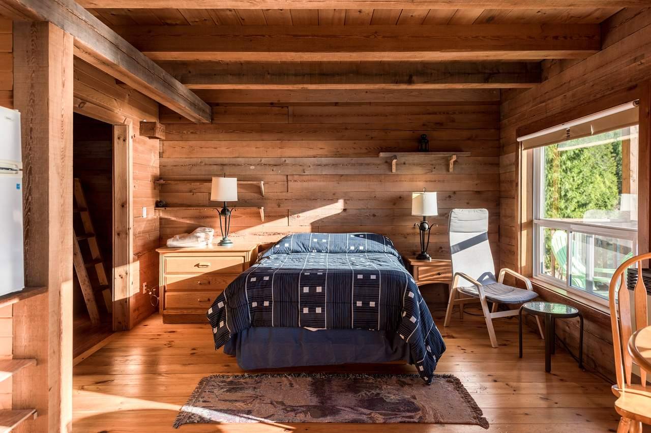 Schlafzimmer einer Lodge Suite der Homfray Lodge