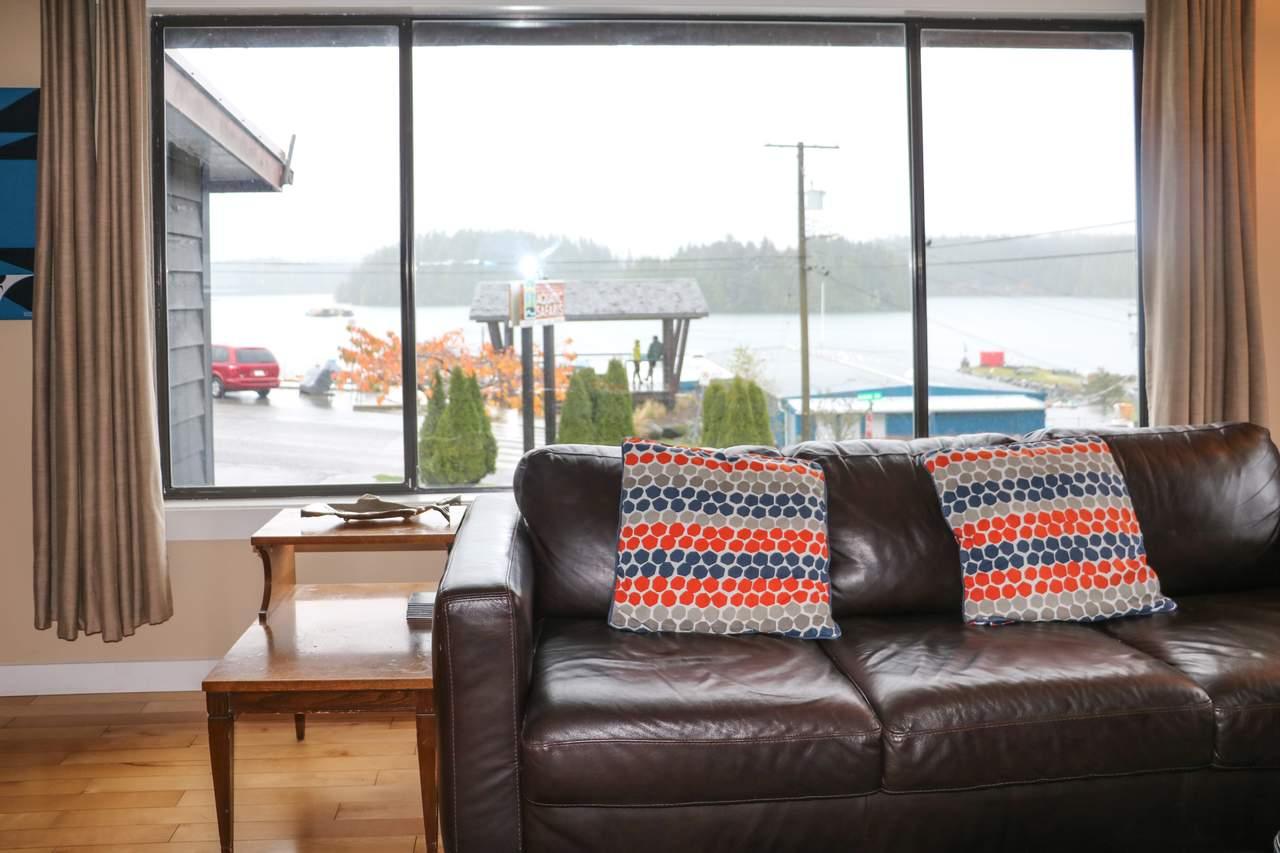 Die Aussicht aus einem der Apartments des Harbour Houses in Tofino