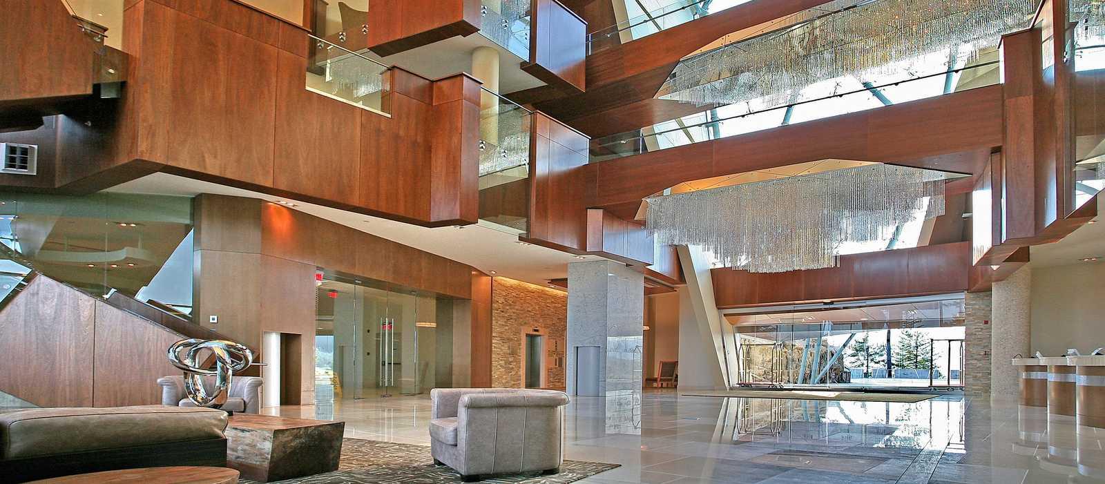 Die Lobby des Resorts