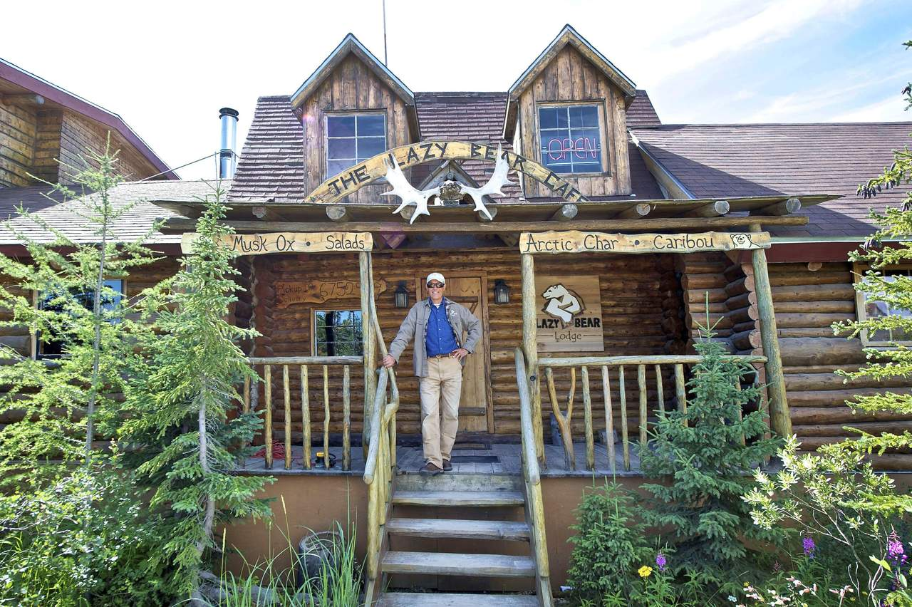 Das Cafe der Lazy Bear Lodge in Churchill, Manitoba