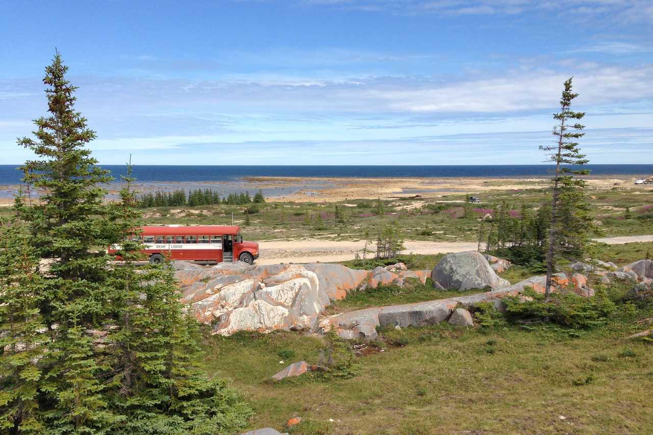 Impressionen der Landschaft in der Nähe der Lazy Bear Lodge in Churchill, Manitoba