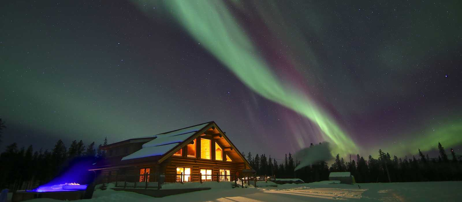 Aurora Borealis beim Northern Lights Resort