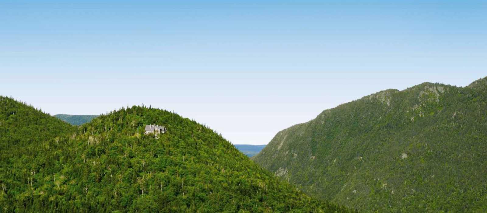 Berglandschaft in der Umgebung der Chic-Chocs Mountain Lodge in Quebec