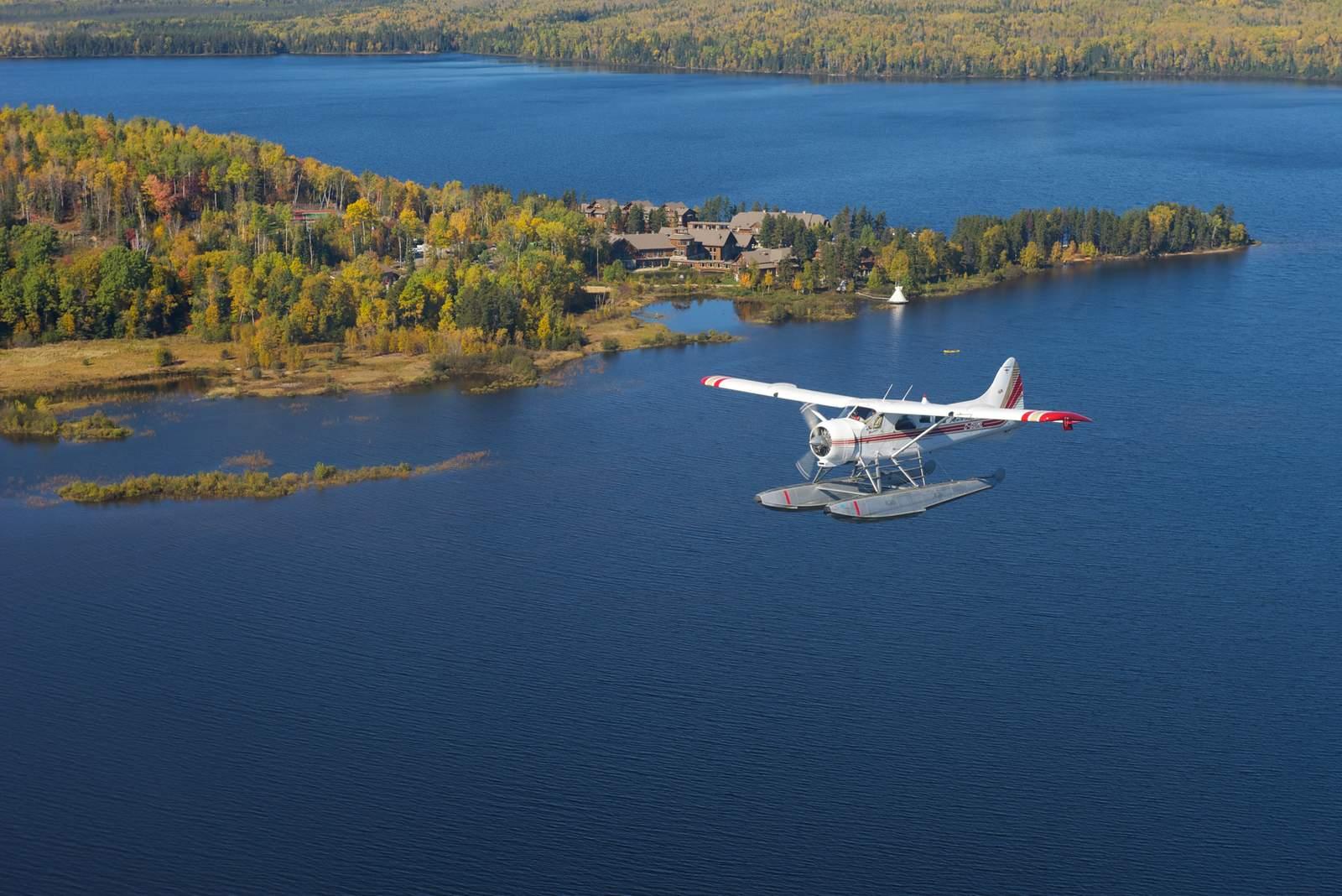 Wasserflugzeugflug