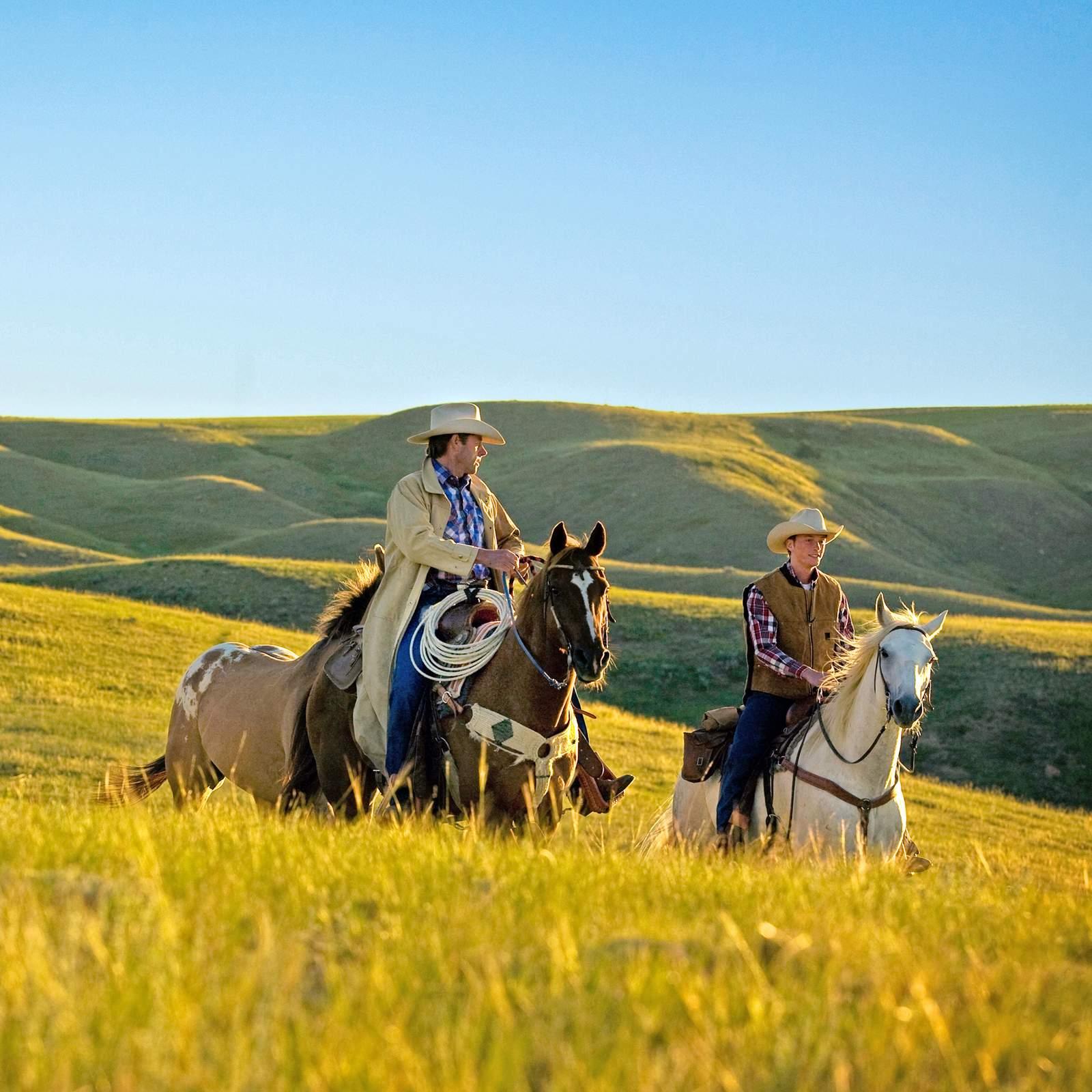 Ausritt in der Naehe der La Reata Ranch