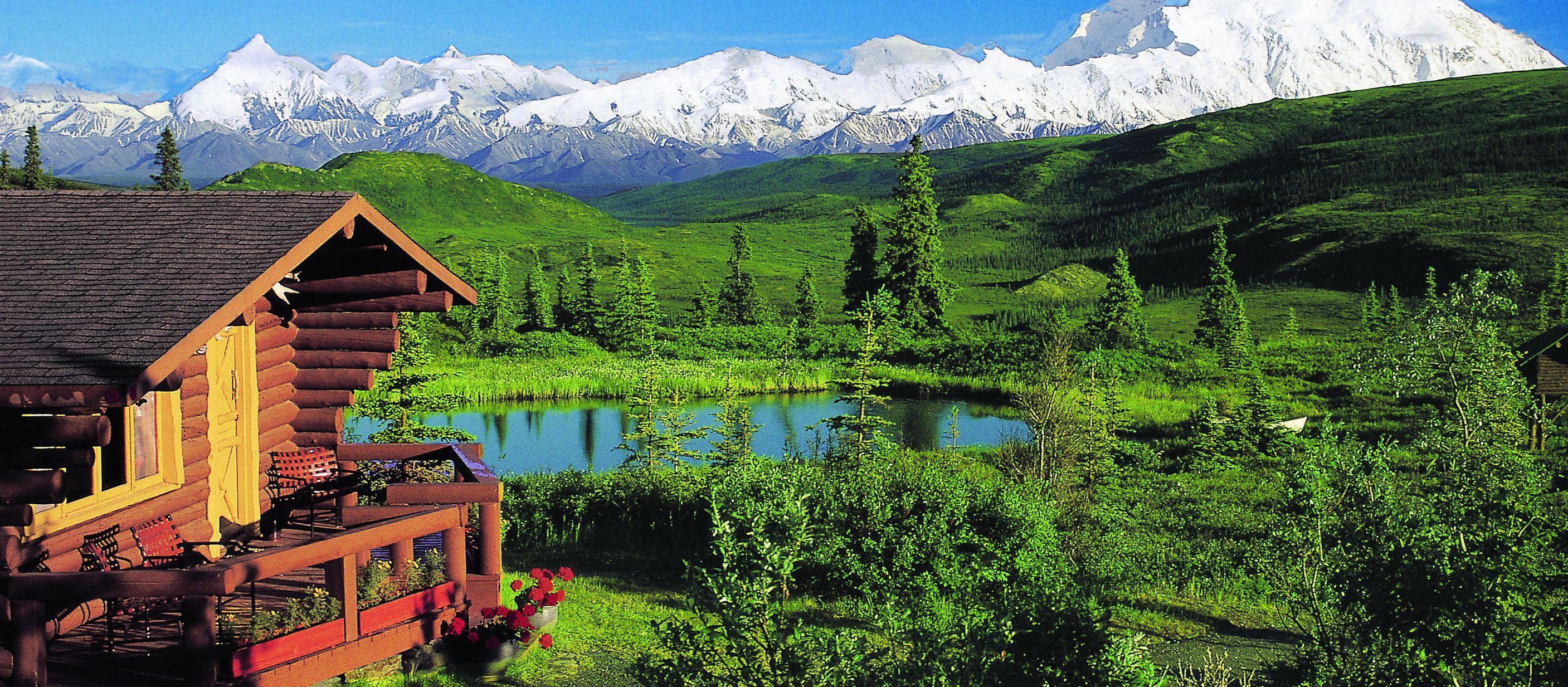 Blockhuette in Alaska