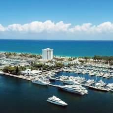 Bahia Mar Fort Lauderdale Beach - a DoubleTree by HIlton Hotel, Luftaufnahme vom Yacht Center