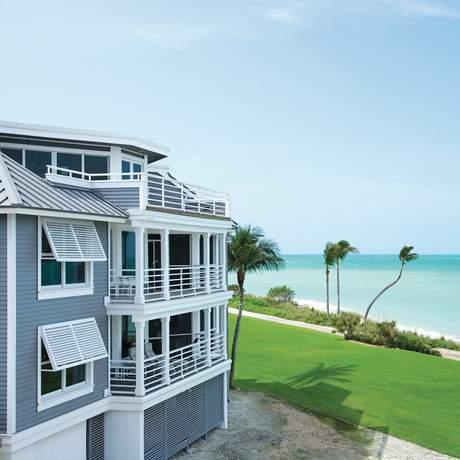 Die Aussicht vom South Seas Island Resort auf Captiva Island, Florida