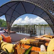 Blick von der Dachterrasse des Hotel Zamora in St. Petersburg, Florida