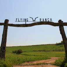 Eingang der Flying W Ranch in Cedar Point, Kansas