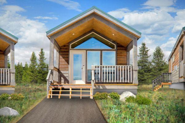 Hotel wyoming explorer cabins at yellowstone canusa for Cabina explorer west yellowstone