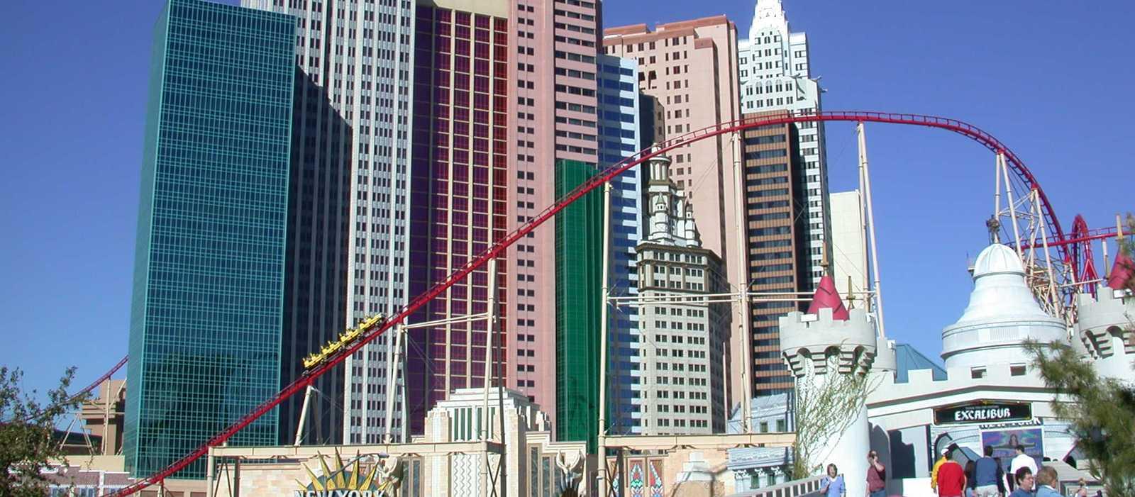 Der Roller Coaster in Las Vegas