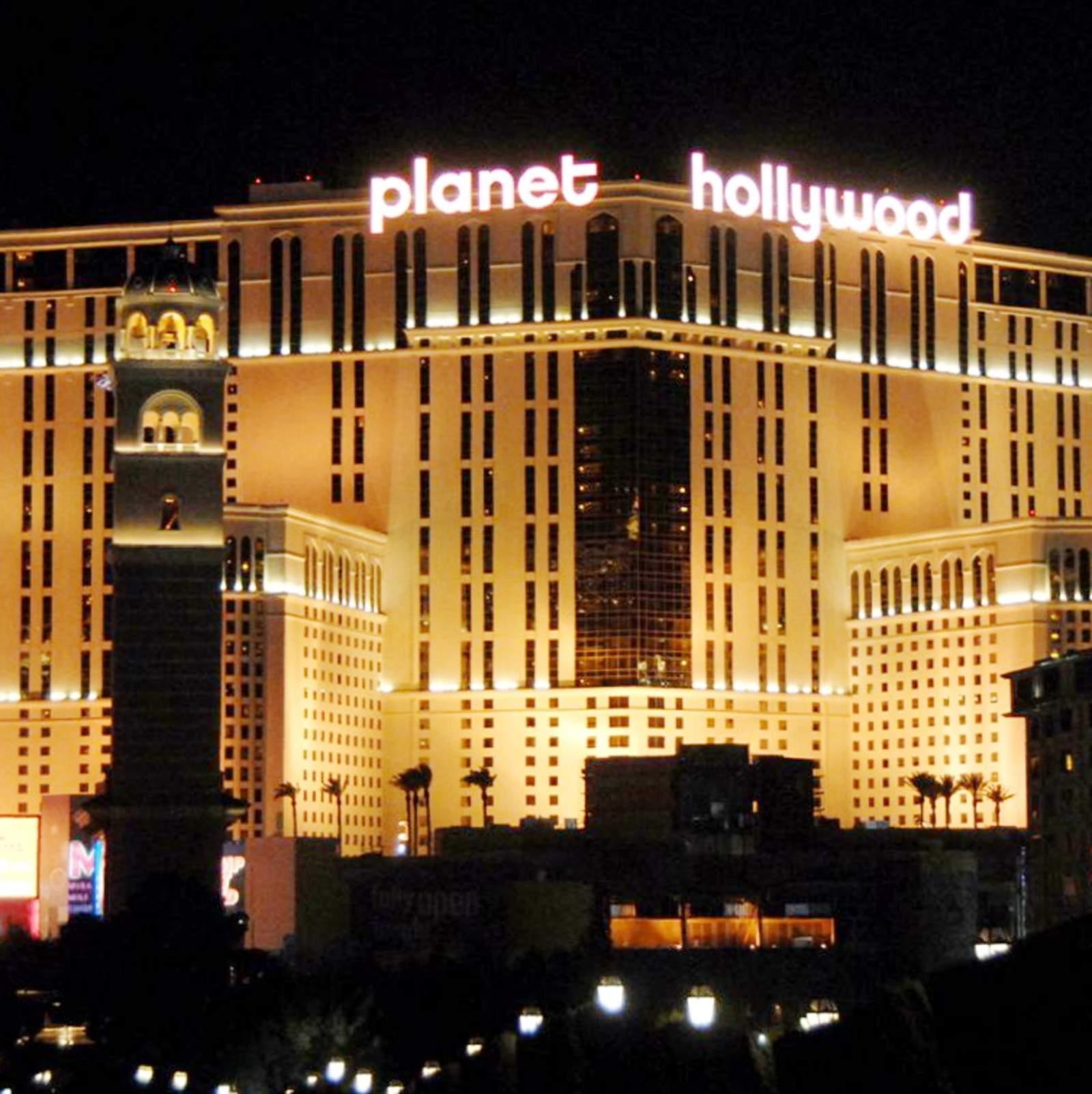 Flamingo hotel las vegas bei nacht aus dem heliopter - Las Vegas