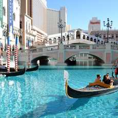 Gondelfahrt in Las Vegas