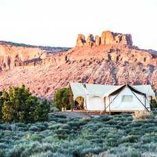 Zelt-Suite im Moab Under Canvas nahe Moab, USA