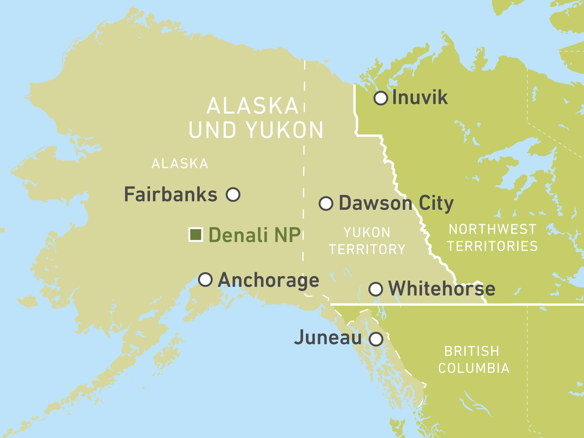 Polarkreis Alaska Karte.Individuelle Reisen Durch Alaska Yukon Buchen Canusa