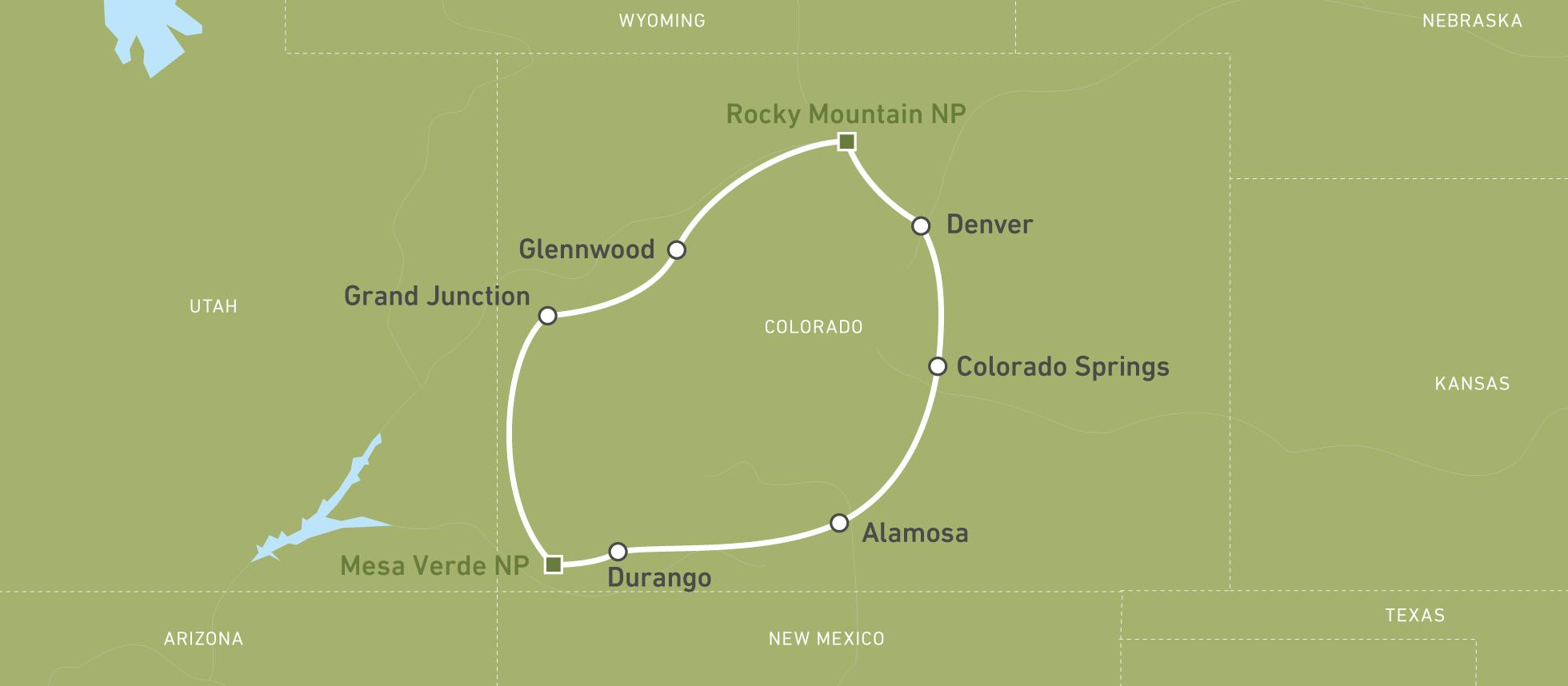 Colorado Karte Fluss.Autoreise Durch Den Rocky Mountain State Der Usa Canusa