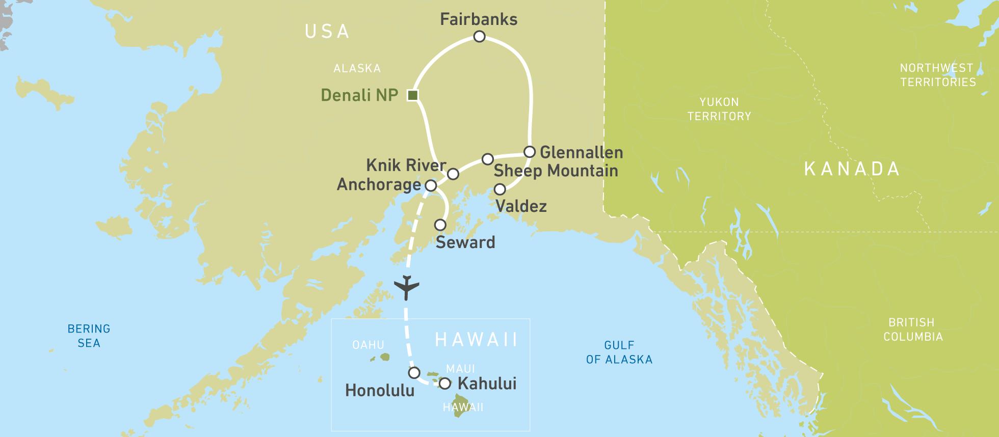 Autoreise durch Alaska und Hawaii: Fire & Ice! | CANUSA