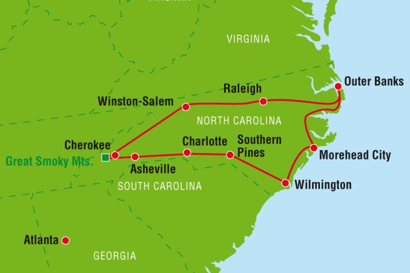 Rundreise North Carolina Usa Urlaub Im S 252 Den Canusa
