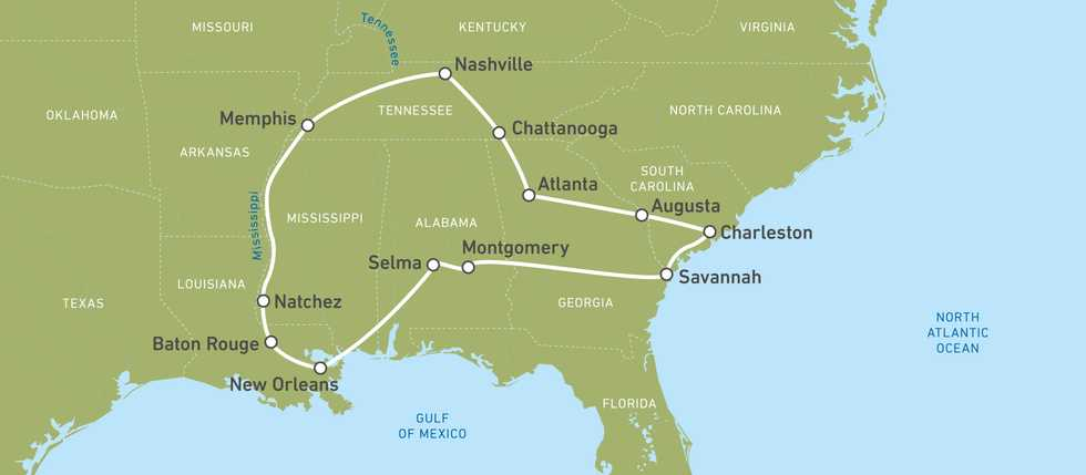 Busreisen - The American South
