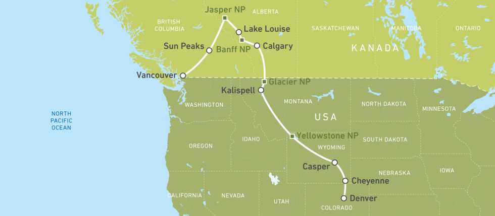 Busreisen USA: Rocky Mountain Discovery | CANUSA