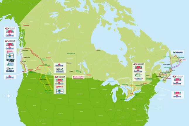 Kanada Routenvorschläge: Vermieterübersicht