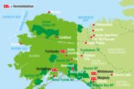 Routenvorschläge USA: Yukon/Alaska Karte