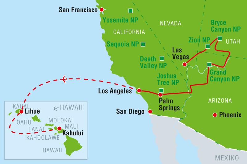 Entfernung Los Angeles Las Vegas