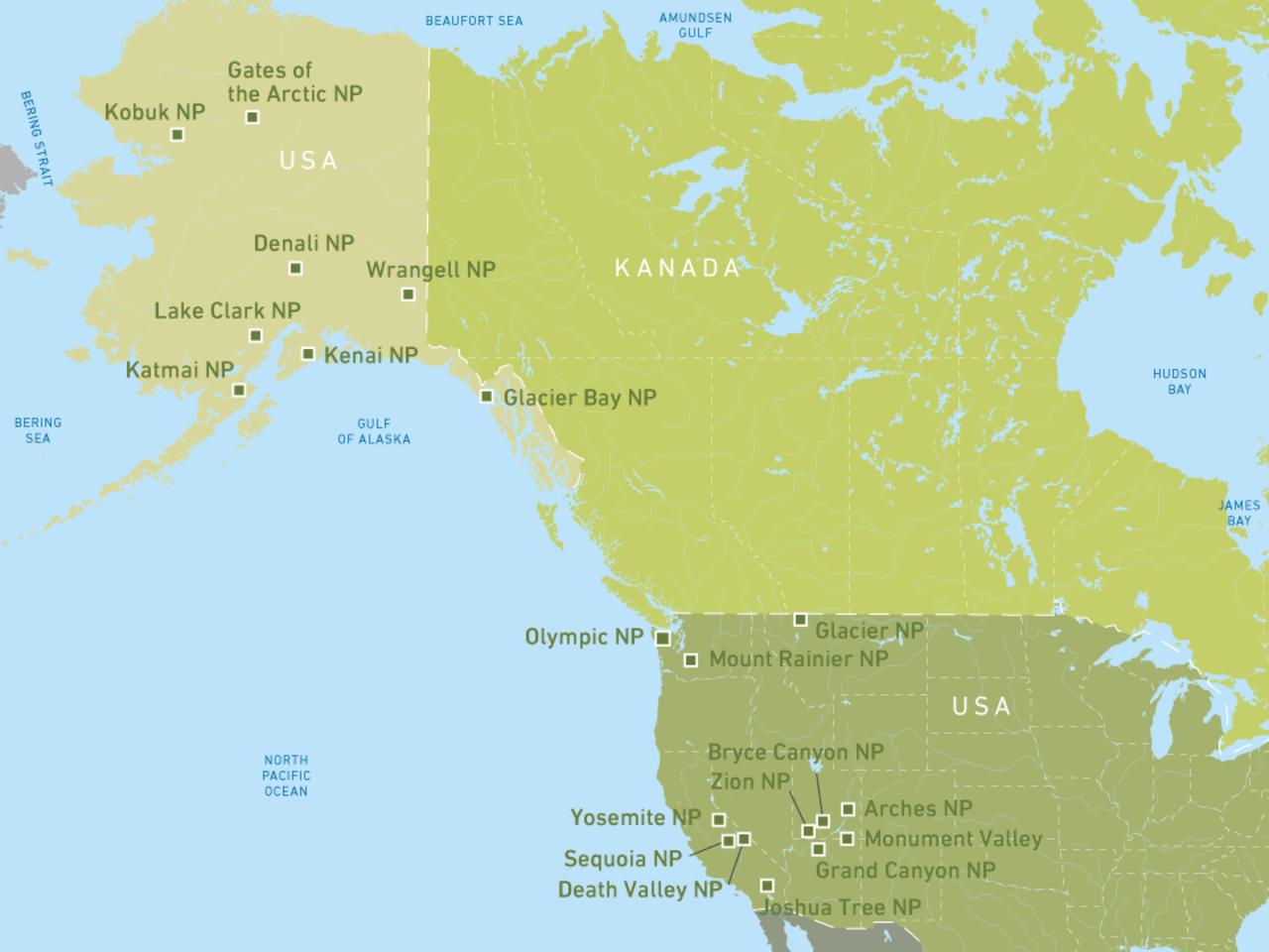 Die schönsten Nationalparks der USA entdecken! | CANUSA