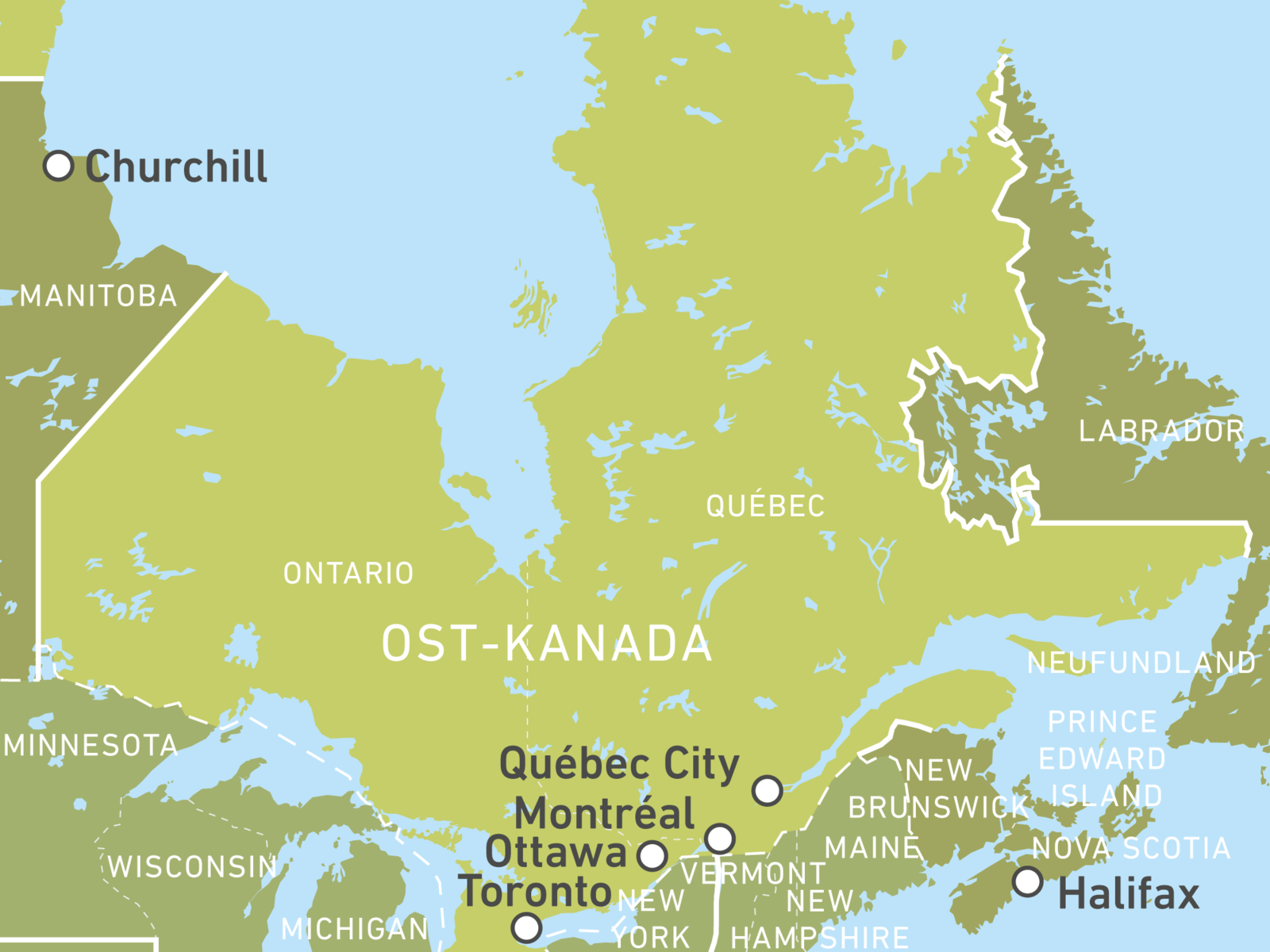 Ostkanada zum kennenlernen canusa