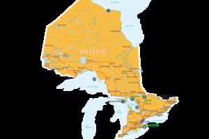 Information Ontario: Karte