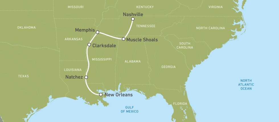 Eine Karte für die EagleRider Tripple-B-Motorradreise