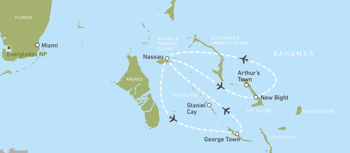 Traumreiseziel Bahamas - Island Hopping