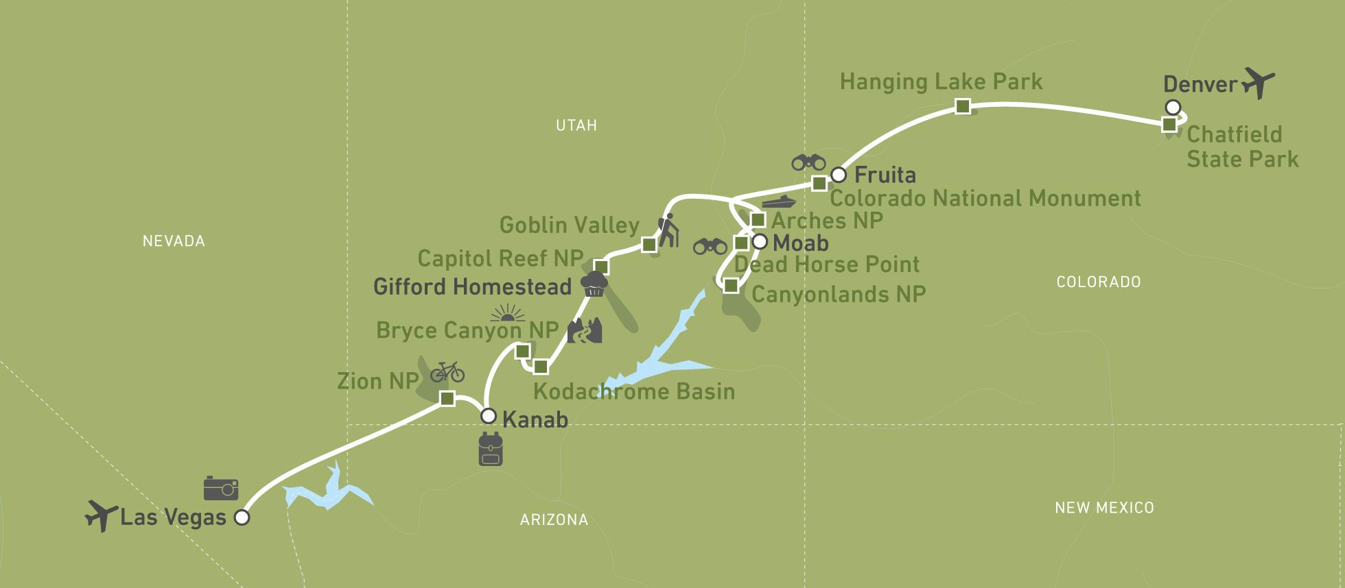 Colorado Karte Fluss.Die Grossartige Natur Zwischen Denver Und Las Vegas Canusa
