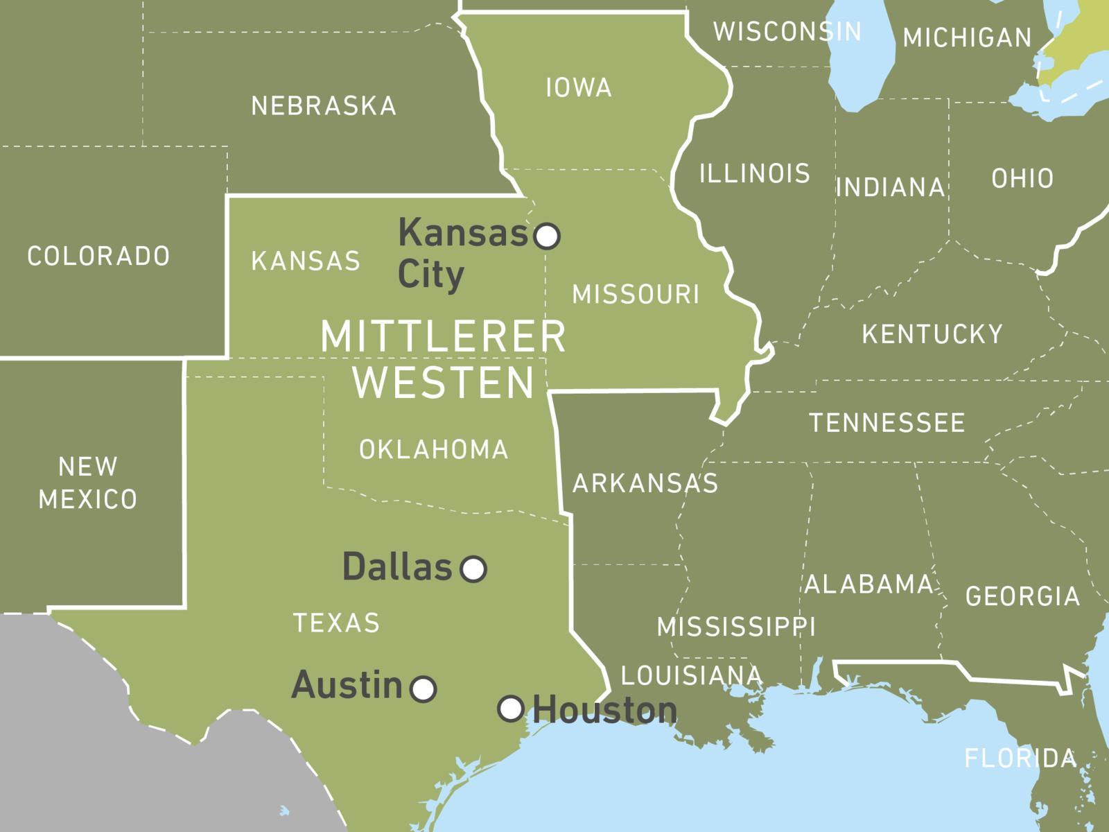 Us Staat Im Mittleren Westen