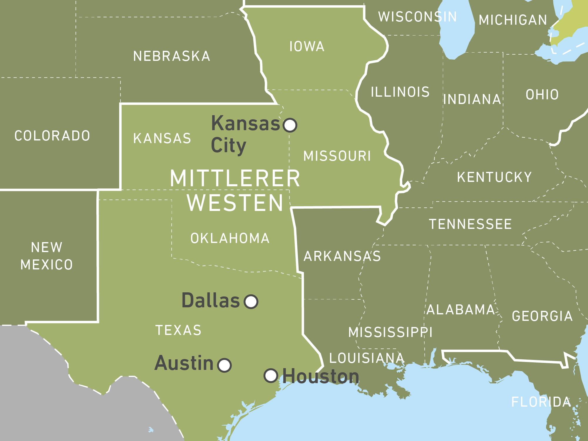 Karte Usa Westen.Reisen Durch Den Mittleren Westen Der Usa Buchen Canusa