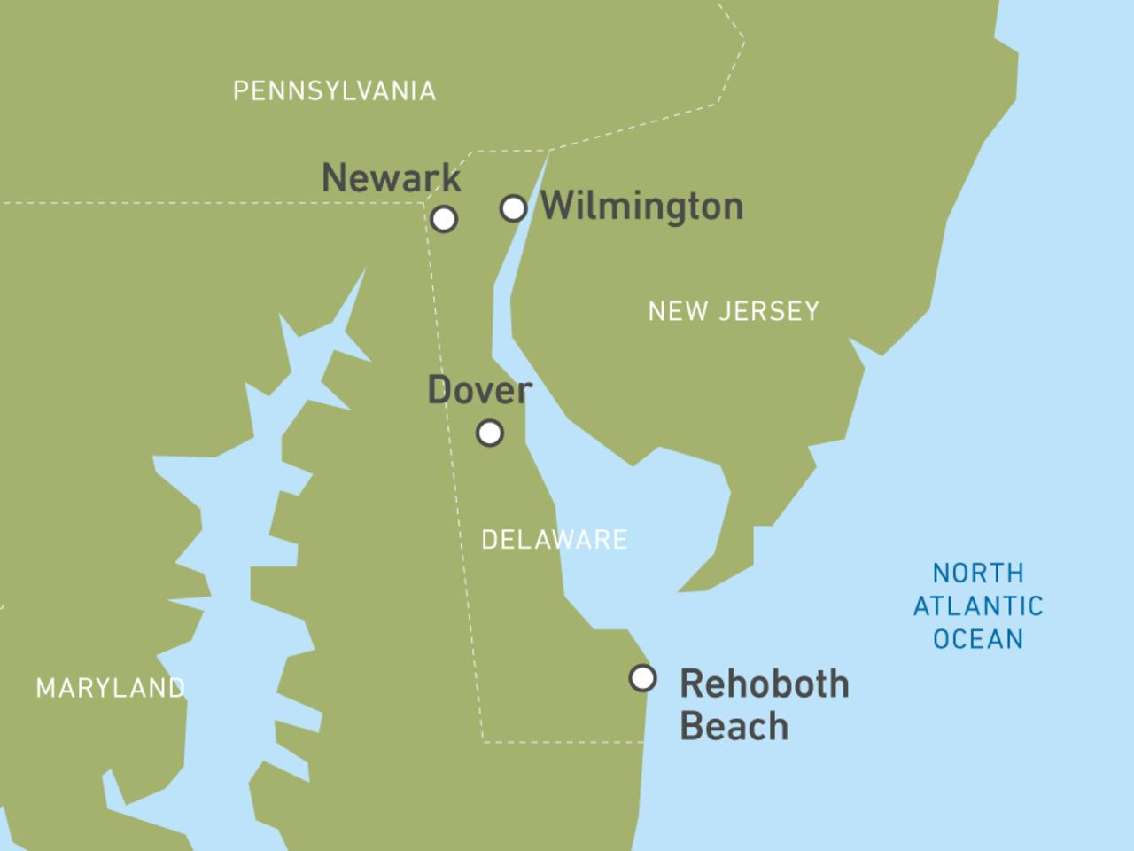 Delaware-Reisen: Rundreisen entlang der Ostküste der USA ...