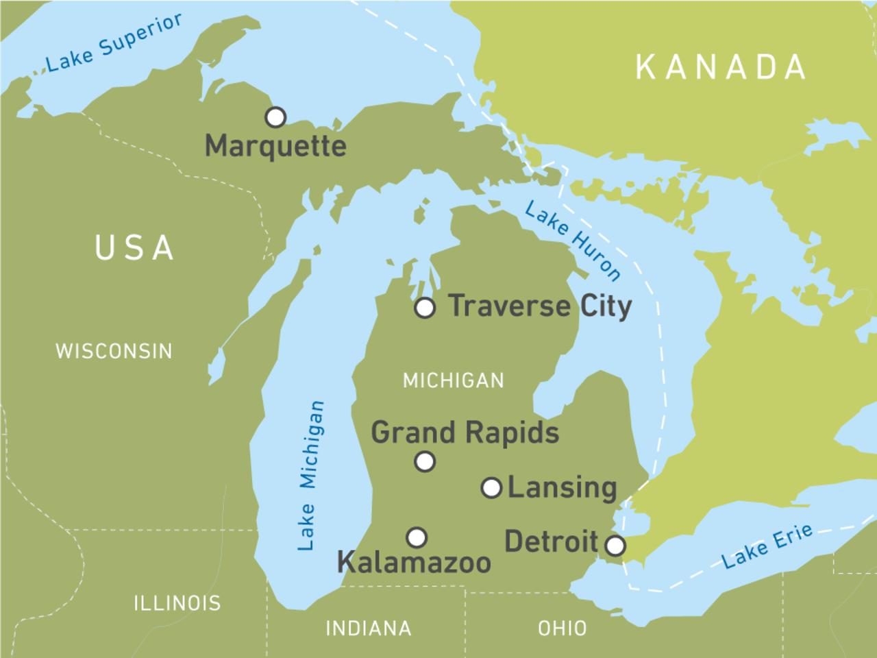 Ihre individuelle Reise nach Michigan buchen! | CA on