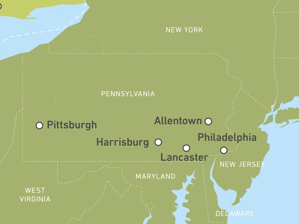 Individuelle Pennsylvania Reisen Buchen Canusa