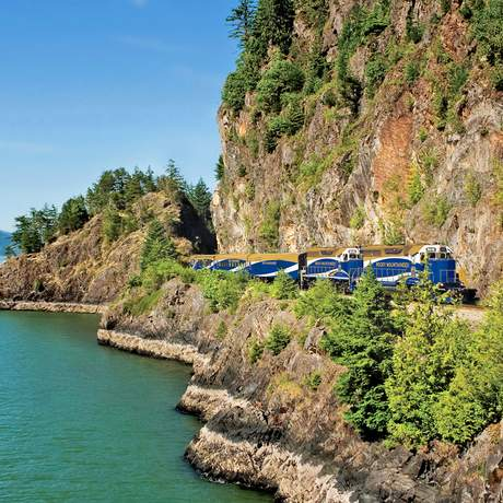 Rainforest to Goldrush Route with Rocky Mountaineer Howe Sound