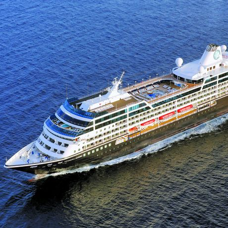 Draufsicht das Azamara Journey Kreuzfahrtschiff