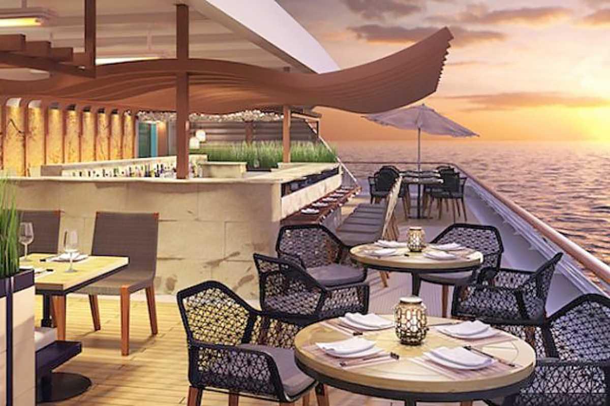 Das neues Asian al Fresco Restaurant des Azamara Journey Kreuzfahrtschiffes
