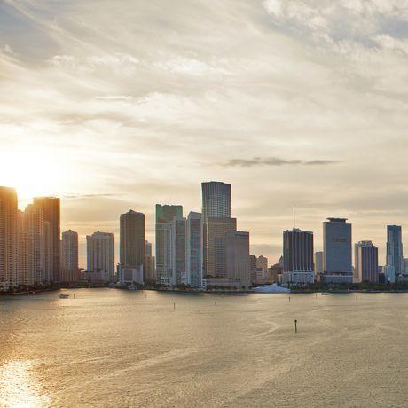 Blick auf Miami von der Azamara Quest, Florida
